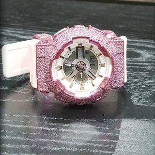 UNIQUE Pinkish  customise baby g Swarovski diamond/do PM more for pricing or visit Instagram for more #gcustomisediamond#