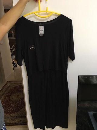 Newlook black nursing dress