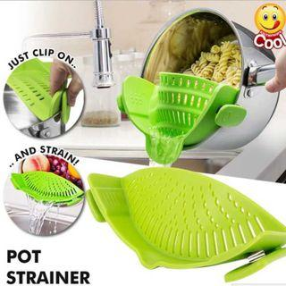 🚚 EASY to USE SIlicon Pot Strainer, Drainer. NO More Wastages !!