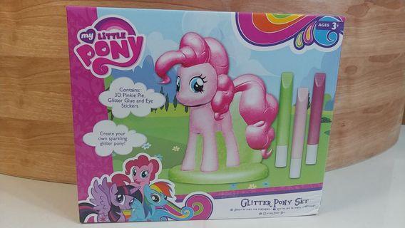 bnib my little pony pinkie pie diy glitter pony set girls toy paint art craft not frozen barbie #endgameyourexcess