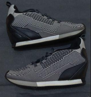 意大利牌子ash女裝灰色網面內增高型格波鞋 Size 35