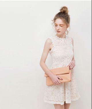 Air space white dress