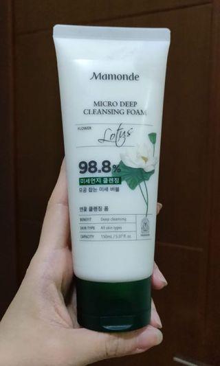 Mamonde micro deep cleansing foam