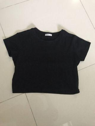 INSTOCK cotton on black ribbed top