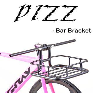 PIZZ Handle bar integrated basket / Bike basket -- Easy-install, light weight and clean design.
