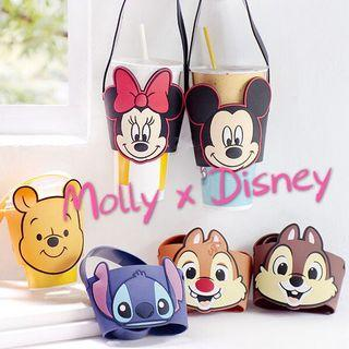 🚚 Disney 正版迪士尼🔥🔥 杯套 小熊維尼 奇奇蒂蒂 維尼 飲料提袋 矽膠杯套 防燙杯套 環保杯套 飲料杯袋 防水