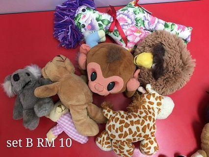 Soft toys bundle set B
