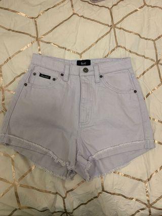 Bardot denim blue shorts