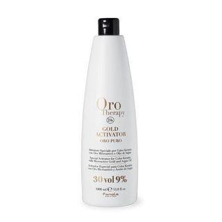 Fanola 30vol 9% Peroxide Repack Oro Puro 24K Gold Activator Argan Oil Hair Blonde Silver Bleach Lightener