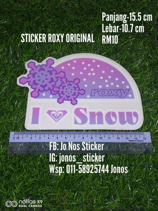 Sticker roxy original