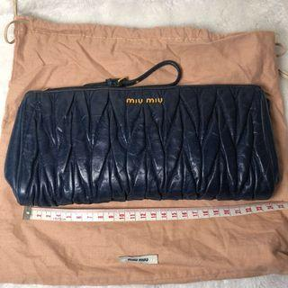 Miu Miu Clutch (Dark Blue)