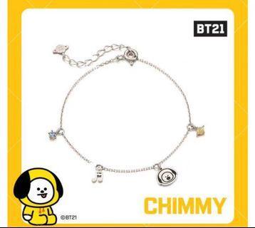 BT21 X OST Chimmy Silver Bracelet