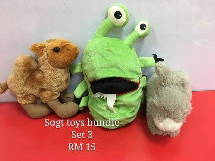 Soft toys bundle set 3