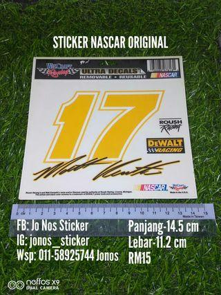 Sticker nascar 17 original