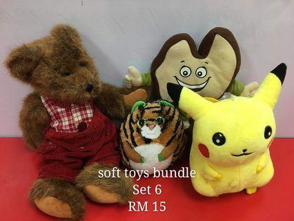 Soft toys bundle set 6