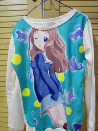 Sweater Anime Cream