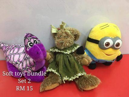 Soft toya bundle set 2