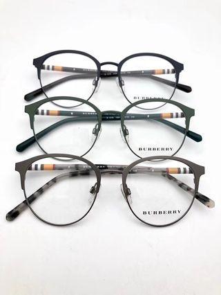 Burberry B1318 titanium round clubmaster eyewear