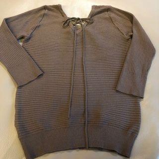 🚚 專櫃品牌 類針織 上衣 可可棕 蝴蝶結🎀