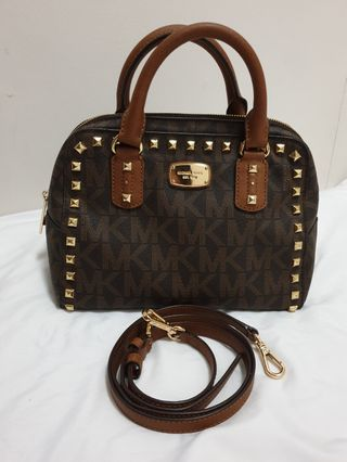 ce36d71e0e67 Authentic MK 2-way studded bag
