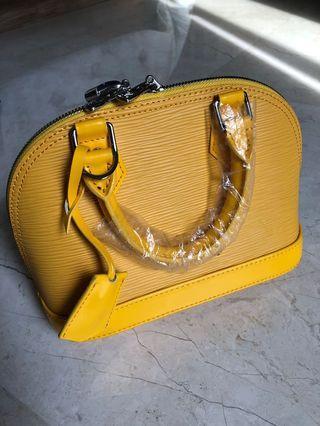 Yellow Mini Alma Bag Louis Vuitton