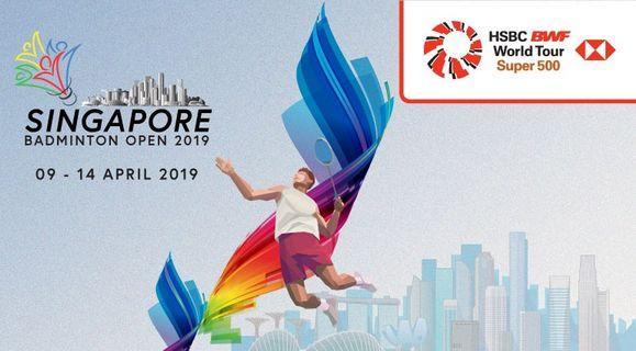 🚚 Singapore Open badminton 2019 final tickets