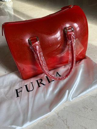 Red Furla Candy Bag