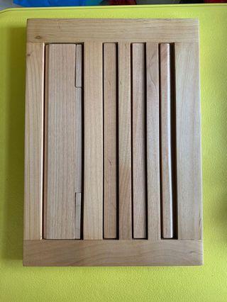 可調式木造平板電腦底座