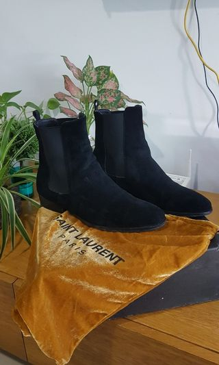 Mens Clarks Suede Elastic Sides Pull On Chelsea Ankle Boots Shoes Clarkdale Gobi 100% Original Clothes, Shoes & Accessories