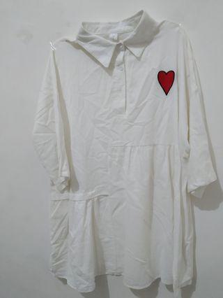 (new) Dress Putih oversized from Sing