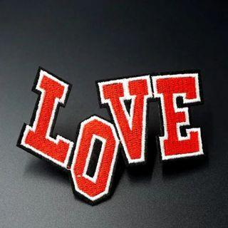 #809 red colourful cute love tumblr Iron On Patch | po