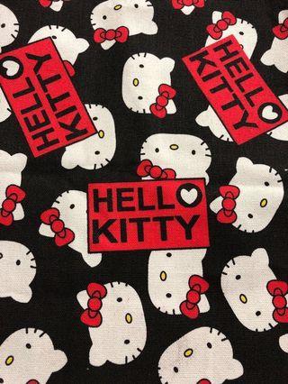 Black hello kitty canvas material