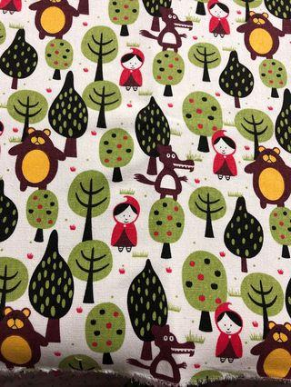 Little red riding hood canvas material