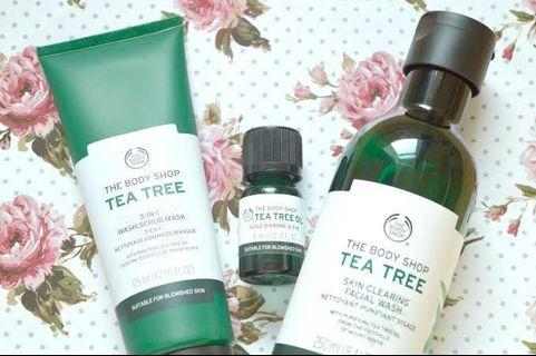 Body Shop Tea Trea Oil and Facial Scrub