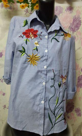 Embroidery Top Long Sleeve