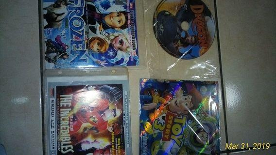 Frozen,toy story 3,the incredible,how to train a dragon