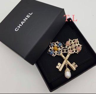 Rare!! Brand New Chanel Keys Brooch