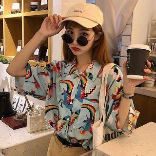 🔥Retro Rainbow Harajuku Ulzzang Shirt