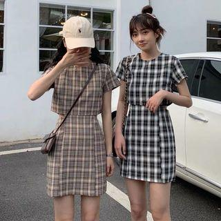 🚚 Po: checker dress