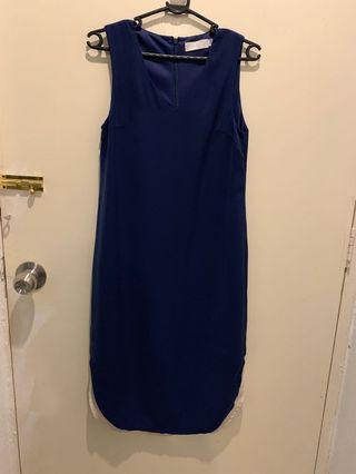 Love bonito navy blue midi dress