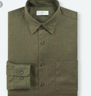 Uniqlo linen long sleeve shirt free delivery