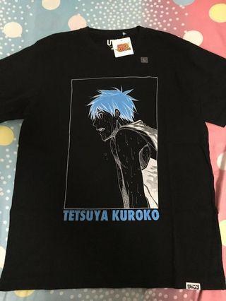 全新 少年Jump x Uniqlo 黑子的籃球 T Shirt 大碼 Size L