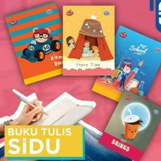 Buku tulis SIDU 38 lembar/ pak & 58 lembar/ pak