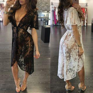 Victoria lace beach cover up sexy lingerie sleepwear