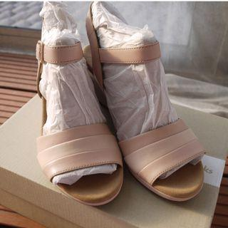 NEW Clarks Pink Leather Wedges UK5.5