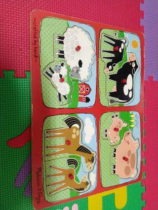 Puzzle Kayu animals