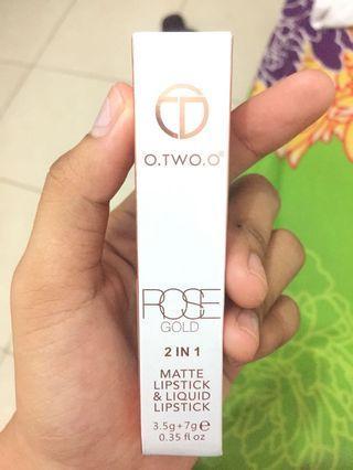 O.TWO.O Matte lipstick&liquid lipstick 2in1