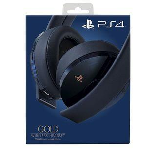 PS4 500 Million Wireless Gold Headset Limited Edition