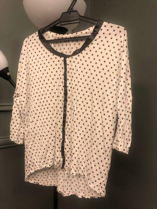 Zara polka dots blouse