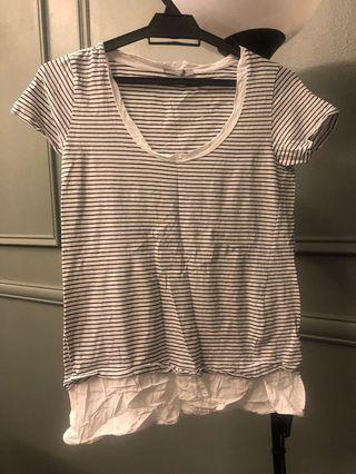 Zara stripes t shirt